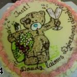 Ludzas maiznica tortes ar uzrakstiem